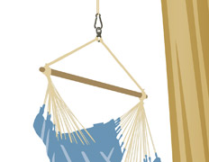 Suspension for hanging chair